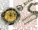 懐中時計 メカニカル ポケット 腕時計 両面スケルトン BR925-GAGD ガンメタ×ゴールド 【男性用腕時計 リストウォッチ ランキング ブランド 防水 カラフル】 懐中時計 【あす楽】