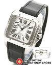 CARTIER カルティエ 腕時計 サントス アリゲーターレザー W20106X8 ブラック×シルバーCARTIER ...