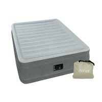 INTEX(インテックス)エアーベッドツインコンフォートシングルサイズ電動式グレー67765ほっとする薬用発泡入浴剤3個付き