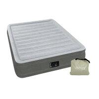 INTEX(インテックス)エアーベッドフルコンフォートダブルサイズ電動式グレー67767ほっとする薬用発泡入浴剤3個付き