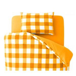 【布団別売】掛け布団カバー シングル 柄:チェック カラー:オレンジ 32色柄から選べるスーパーマイクロフリースカバーシリーズ 掛布団カバー