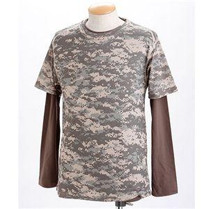 ドライクール ナイス カモフラ半袖 Tシャツ&ロング Tシャツ2枚 セット( 迷彩) ACUS