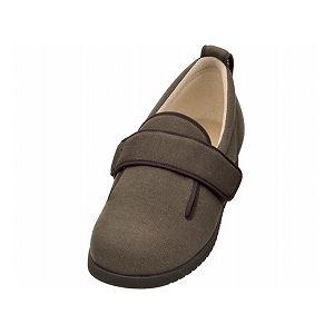 介護靴 施設・院内用 ダブルマジック2 7E(ワイドサイズ) 7006 片足 徳武産業 あゆみシリーズ /LL (24.0〜24.5cm) ブラウン 左足