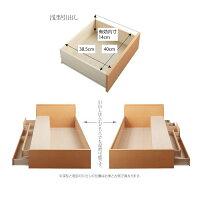 【組立設置費込】チェストベッドセミシングル【Spatium】【フレームのみ】ホワイト日本製_棚・コンセント付き_大容量チェストベッド【Spatium】スパシアン【】