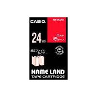 (業務用30セット)カシオCASIOラベルテープXR-24ARD赤に白文字24mm×30セット