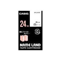 (業務用30セット)カシオCASIOラベルテープXR-24WE白に黒文字24mm×30セット