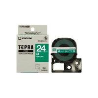 (業務用30セット)キングジムテプラPROテープSD24G緑に白文字24mm×30セット