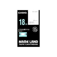 (業務用30セット)カシオCASIO透明テープXR-18XS透明に銀文字18mm×30セット