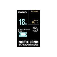 (業務用30セット)カシオCASIOラベルテープXR-18BKG黒に金文字18mm×30セット