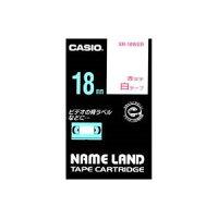 (業務用30セット)カシオCASIOラベルテープXR-18WER白に赤文字18mm×30セット