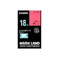(業務用30セット)カシオCASIOラベルテープXR-18RD赤に黒文字18mm×30セット