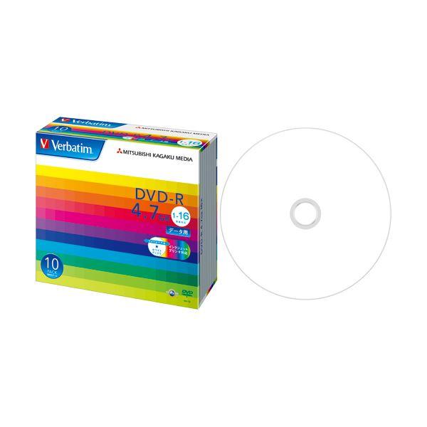(まとめ) バーベイタム データ用DVD-R 4.7GB ワイドプリンターブル 5mmスリムケース DHR47JP10V1 1パック(10枚) 【×5セット】
