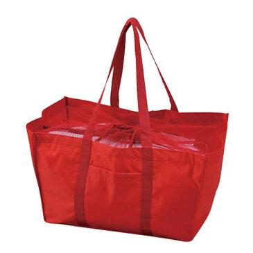 エコマイバッグ/買い物トートバッグ 【レッド】 レジカゴ対応 ポリエステル製【代引不可】