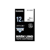 (業務用50セット)カシオCASIO強粘着テープXR-12GWE白に黒文字12mm×50セット