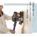 スティッククリーナースタンド/掃除機立て 【ブラウン】 幅27.5cm 木製 スリム【代引不可】 2
