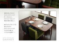 ダイニングセット3点セット【DARNEY】Cタイプ(テーブル幅160cm+2人掛けソファ×2)バイキャストブラックソファ&ダイニングセット【DARNEY】ダーニー【】