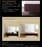 ベッドシングル【日本製ボンネルコイルマットレス】ホテル仕様デザインダブルクッションベッド【】