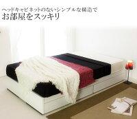 ヘッドレス引出付ベッドシングル二つ折りボンネルコイルスプリングマットレス付【ホワイト】【】