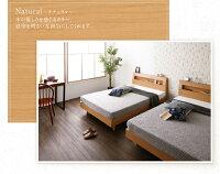 すのこベッドダブル【Mowe】【フレームのみ】ナチュラル棚・コンセント付デザインすのこベッド【Mowe】メーヴェ