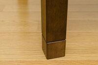 継脚式モダンこたつテーブル【幅90cm】長方形木製(天然木)本体高さ調節可/継ぎ足ブラウン【】