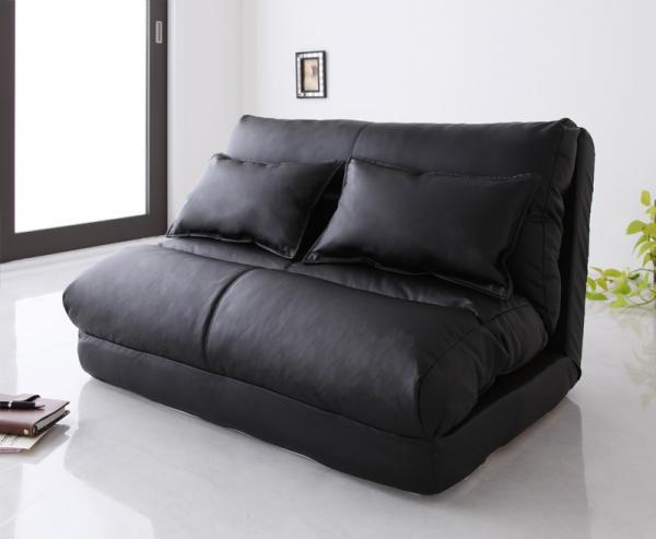 ソファーベッド 幅90cm【ブラック】【Luxer】 コンパクトフロアリクライニングソファベッド【Luxer】リュクサー【代引不可】