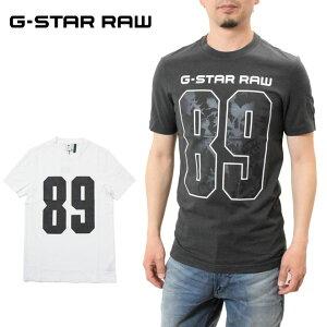 ジースター ロウ ナンバーロゴTシャツ 半袖(G-STAR RAW D16420-336) メンズ 89 Thistle GR Slim T-Shirt シンプル ロゴ