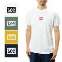 Lee Tシャツ ボックスロゴ 半袖 プリント (リー ジャパン LT2550 アメカジ シンプル ユニセックス ロゴ ワンポイント)