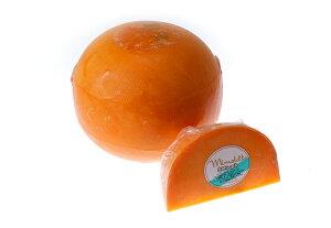 オレンジ色が印象的なチーズミモレット ジェンヌ 6週間熟成 200g(不定貫)【セミハードタイプ...