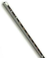 1列スリット(穴)タイプの棚柱です。ロイヤル チャンネルサポート棚柱 ASF-1クローム 【900】 ...