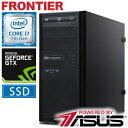 デスクトップパソコン フロンティア [Windows10 Core i7-7700 16GBメモリ 525GBSSD 1TBHDD GTX1080] FRGAH...