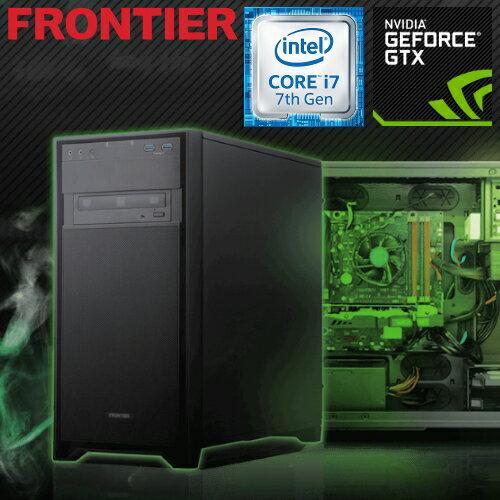 フロンティア デスクトップパソコン [Windows10 Core i7-7700 16GBメモリ 256GB NVMe SSD  2TB HDD GeForce GTX1060] FRGEH270 E3【新品】【FR】:ショップ・インバース