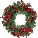 レッドベリーコーンリース φ40cm クリスマス用品 クリス...