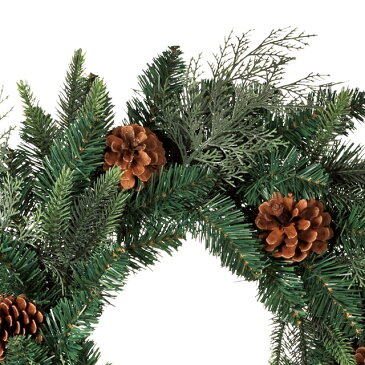 クリスマス用品 クリスマスツリー リース パーティー グッズ 造花 装飾 飾り オーナメント 観葉植物 ステイブルグリーンリース φ50cm 玄関 リビング おしゃれ【RCP】