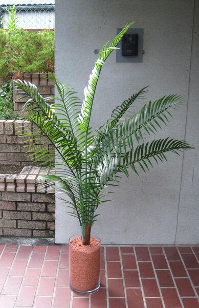観葉植物 造花 リビング 人工観葉植物 消臭・抗菌 ガラスベース仕様 UDD触媒 アレカパーム 140cm ヤシフェイクグリーン 【RCP】:ショップ かたくり