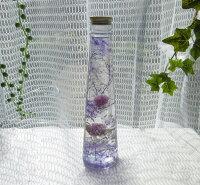 キャッシュレス5%還元対象 母の日 ハーバリウム 植物標本ドライフラワーをコーン型ガラス製ボトルにいれた大人気のHealing Bottle 母の日 ハーバリウム。200ml『アメジスト』プレゼント ギフト インテリ【RCP】