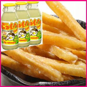 高知ひろめ市場の『芋けんぴ』と柚子飲料ごっくんのセットです。高知名物 『いもけんぴ』6点と...