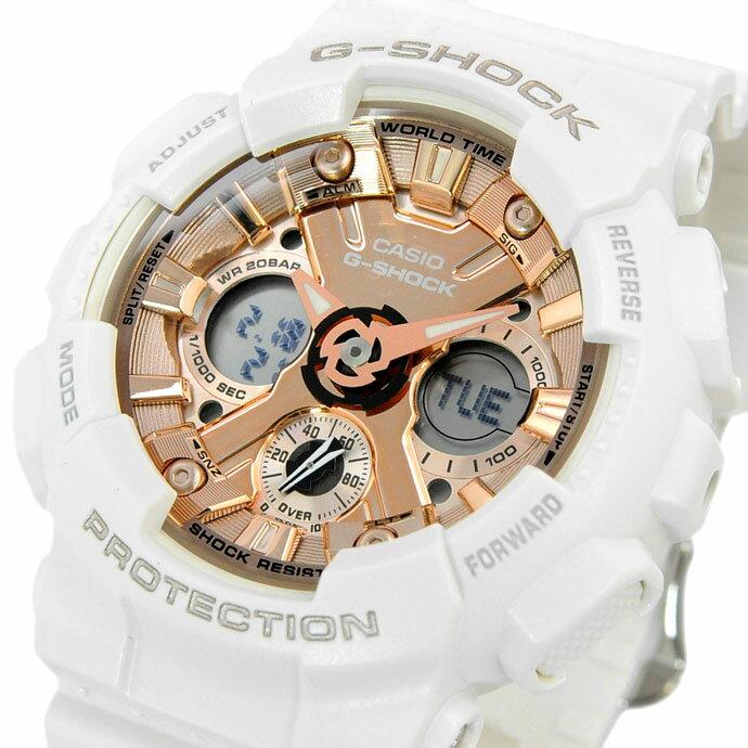腕時計, 男女兼用腕時計  CASIO G-SHOCK S PINKGOLDWHITE GMA-S120MF-7A2