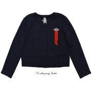 【1219】【送料無料】ノーカラージャージジャケット(L'AGENTE,ラジェンテ)11号【ミセスファッション】【40代】【50代】【60代】