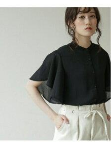 【WEB限定】ラッフルスリーブブラウス frames RAY CASSIN レイカズン シャツ/ブラウス 長袖シャツ ブルー ブラック グリーン ベージュ ホワイト【先行予約】*[Rakuten Fashion]