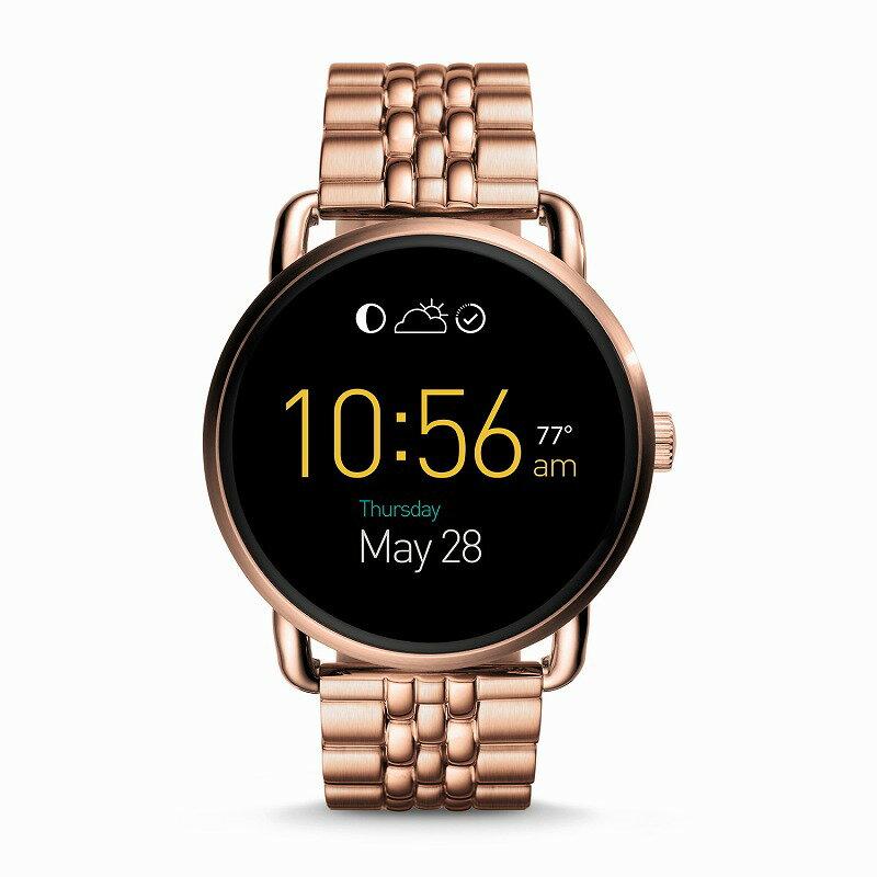 フォッシル スマートウォッチ Fossil FTW2112 Q Gen 2 Smartwatch Wander Rose Gold-Tone Stainless海外お取り寄せ商品 米国正規商品【smtb-tk】:セドナ