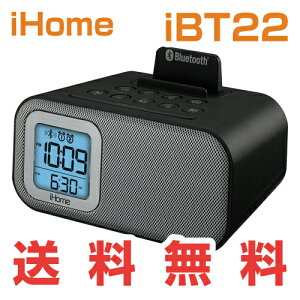 iHomeiBT22BluetoothBedsideDualAlarmClockwithUSBChargingandLine-inアイホームiBT22米国正規商品