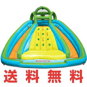 【新商品♪】リトルタイクスロッキーマウンテンリバーレーススライドバウンサーLittleTikesRockyMountainRiverRaceInfatableSlideBouncer屋外用子供用プール2個のすべり台付大型プールおもちゃ・玩具【RCP】02P27May16