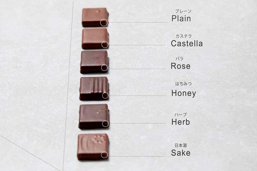 旅するチョコレート種類