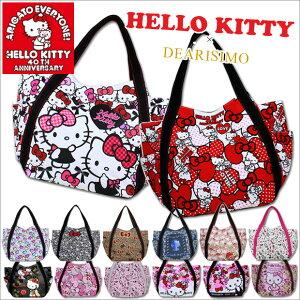 【全品送料無料】HELLO KITTY × DEARISIMO ハローキティ トートバッグ キャンバス 大きめ A4 ...