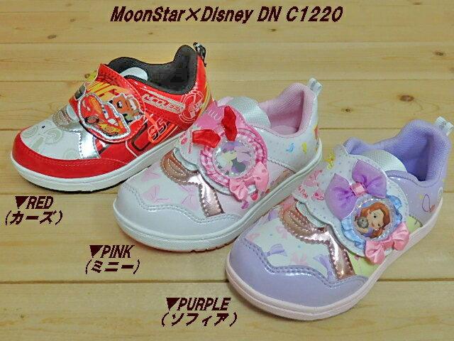 靴, スニーカー (412000)MoonStarDisney DN C1220 2E(RED)(PINK)()