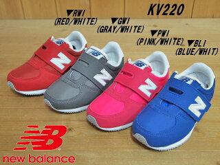 0162aefe88ea9 ♪NEW BALANCE KV220 RWI(レッド)・GWI(グレイ)・PWI(ピンク)・BLI(ブルー)▽ニューバランスkv220▽(14cm- 16.5cm)ベビー・キッズ ベルクロ スニーカー靴 レトロ ...