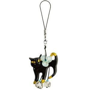 世界中で大人気!【ラロ・トレジャーズ】キャット 黒猫  携帯ストラップ【RCP】◆福袋除外品◆