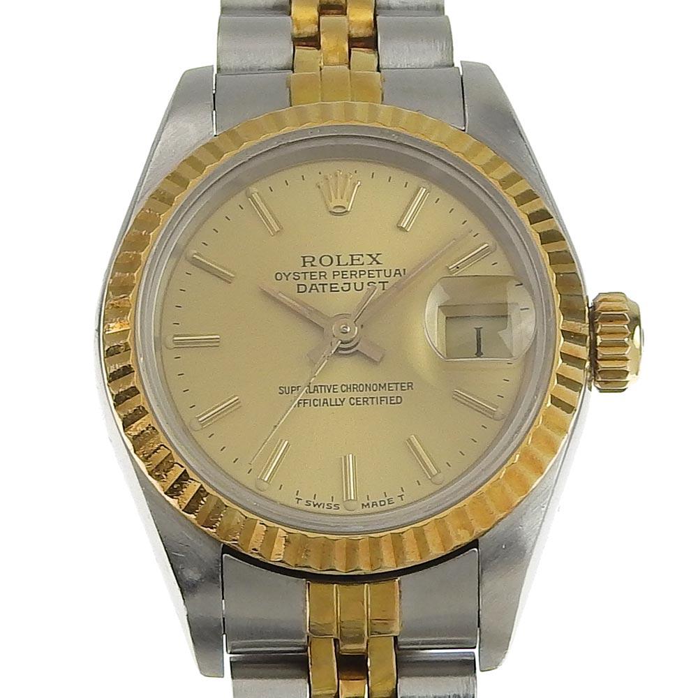【本物保証】 ロレックス ROLEX デイトジャスト レディース 自動巻き 腕時計 ゴールド文字盤 95番台(1986〜1987年) 69173 2021/03 OH済 【中古】