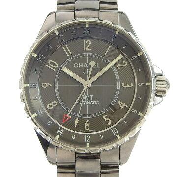 【本物保証】保付超美品シャネルCHANELJ12クロマティックGMTメンズ自動巻きオートマ腕時計H3099