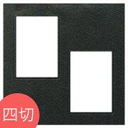 TAKENO竹野アルバム写真台紙記念写真ヒンジ中枠四切用/2L/黒(HGYB)